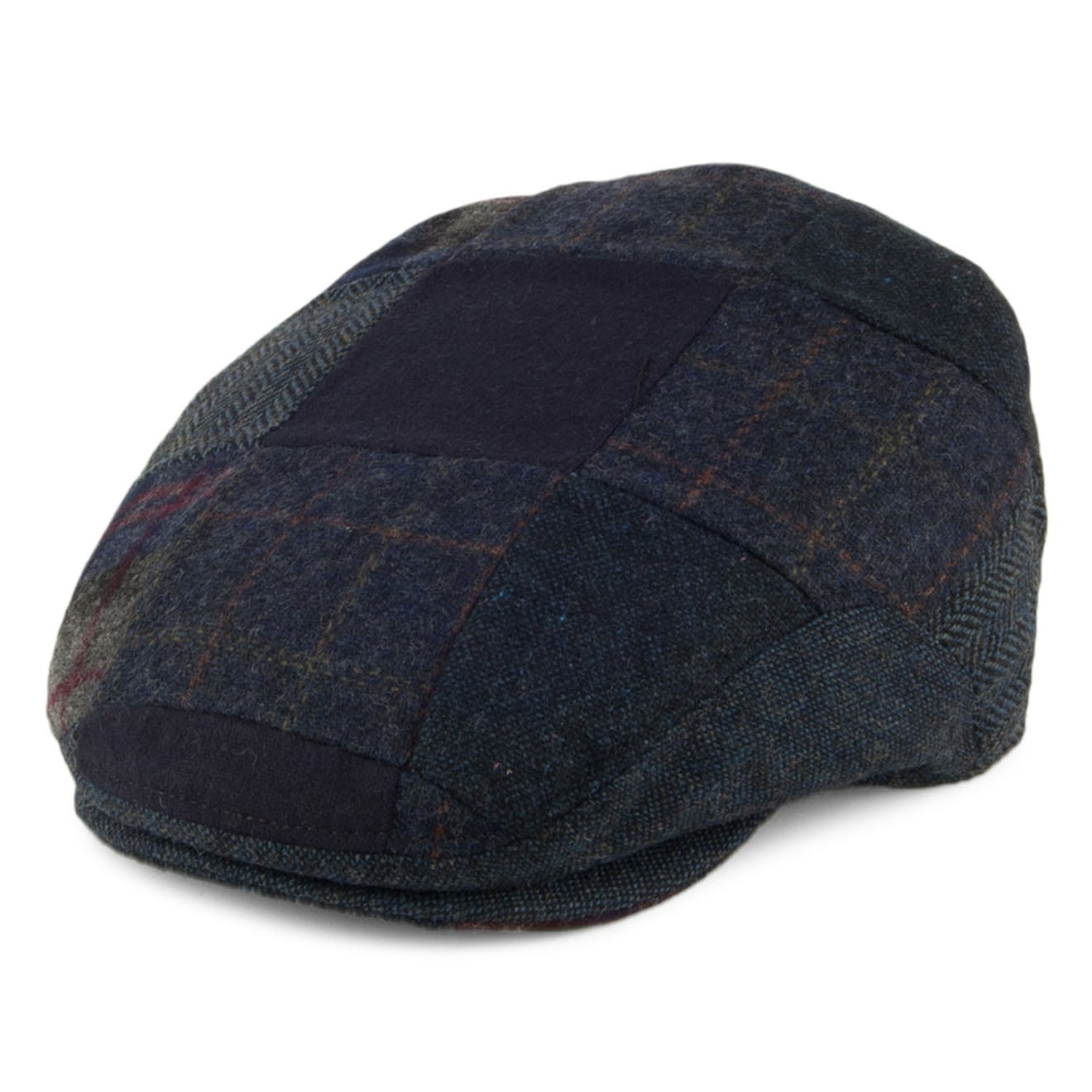 d22e2b9019f Barbour Patchwork Flat Cap Navy Mix - The Sporting Lodge