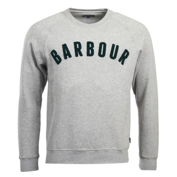 Barbour Prep Logo Crew Sweatshirt Grey Marl