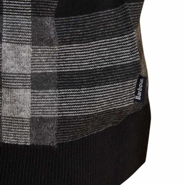 Barbour Tartan Jacquard Crew Neck Sweater Graphite