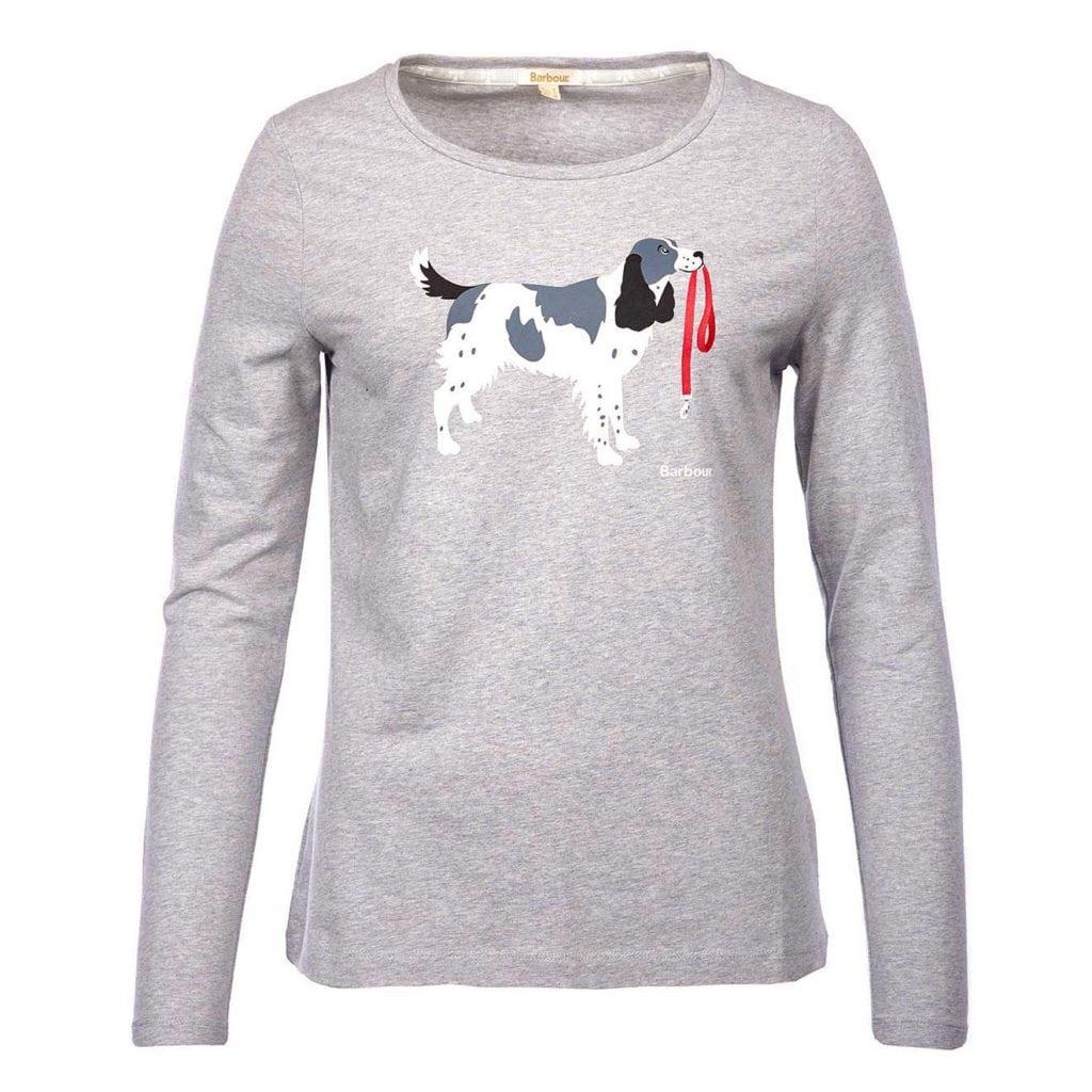 Barbour Womens Frinton Long Sleeve T-Shirt Light Grey