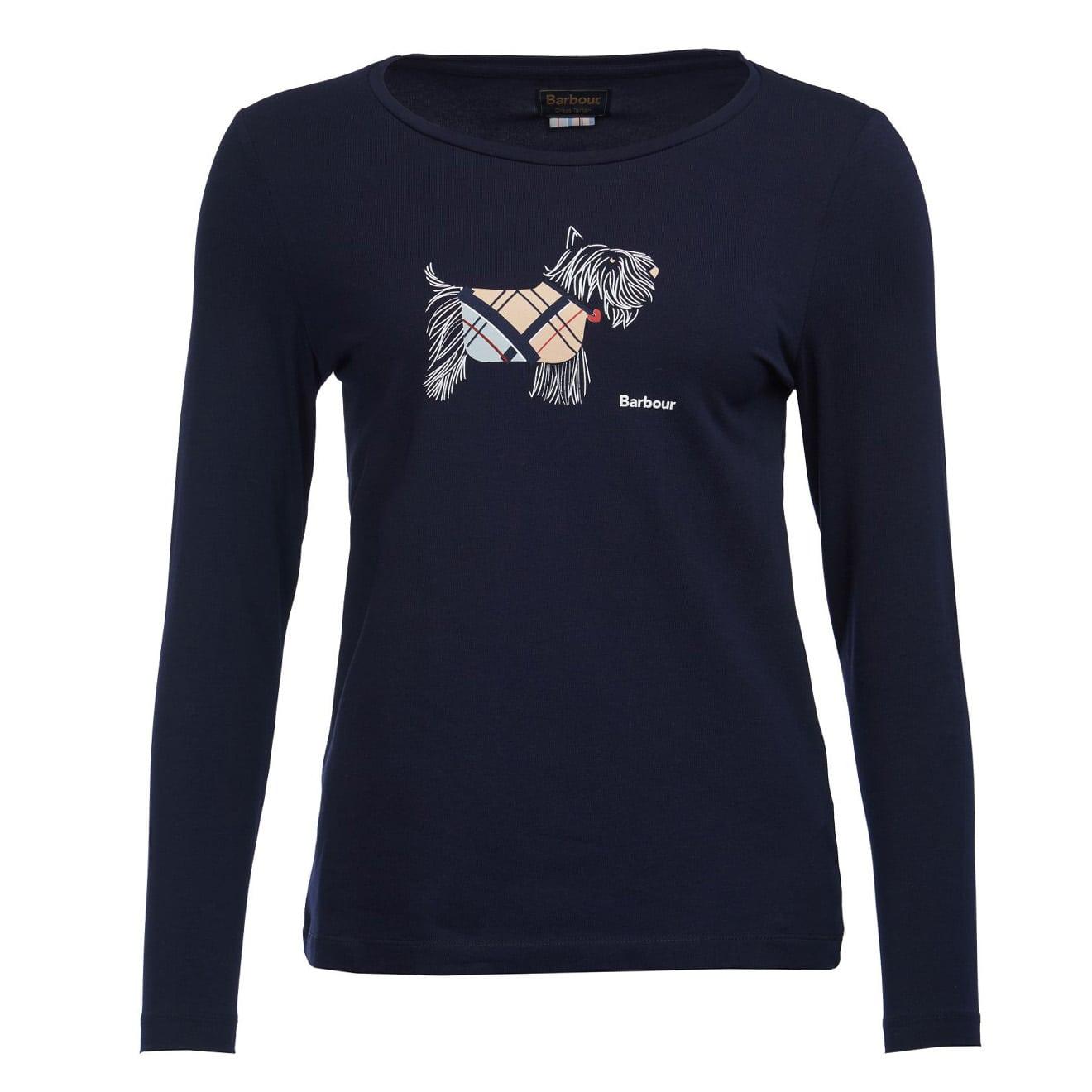 Barbour Womens Galloway Long Sleeve T-Shirt Navy