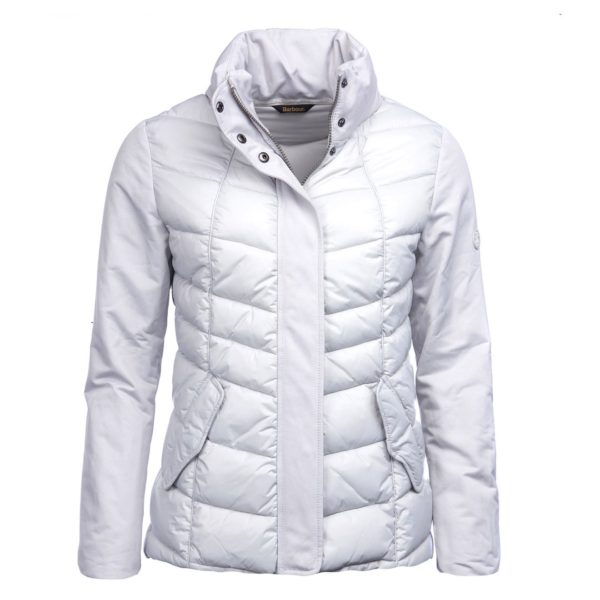 Barbour Womens Hayle Quilted Jacket Ice White/White