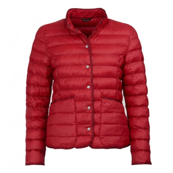 Barbour Womens Hollybush Quilted Jacket Chilli Red