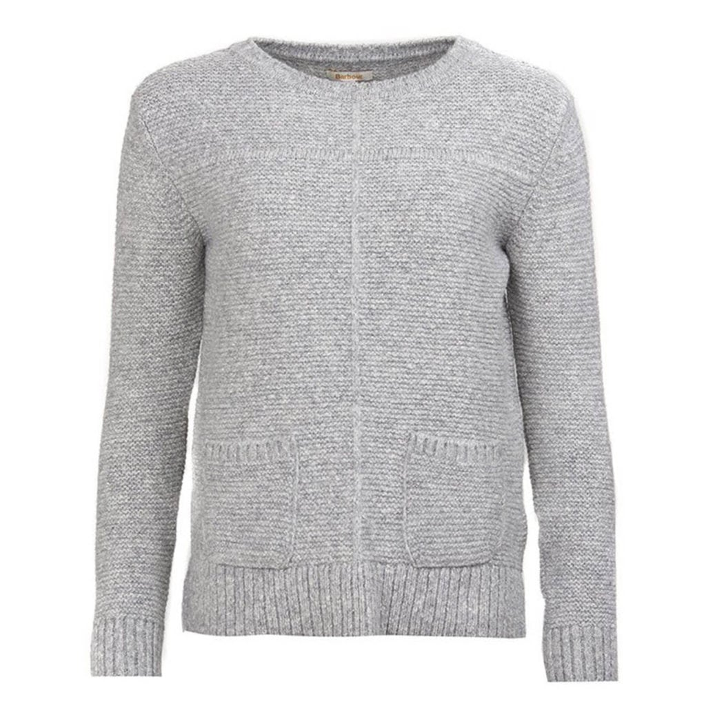 Barbour Womens Melvern crew Knitwear Light Grey Marl