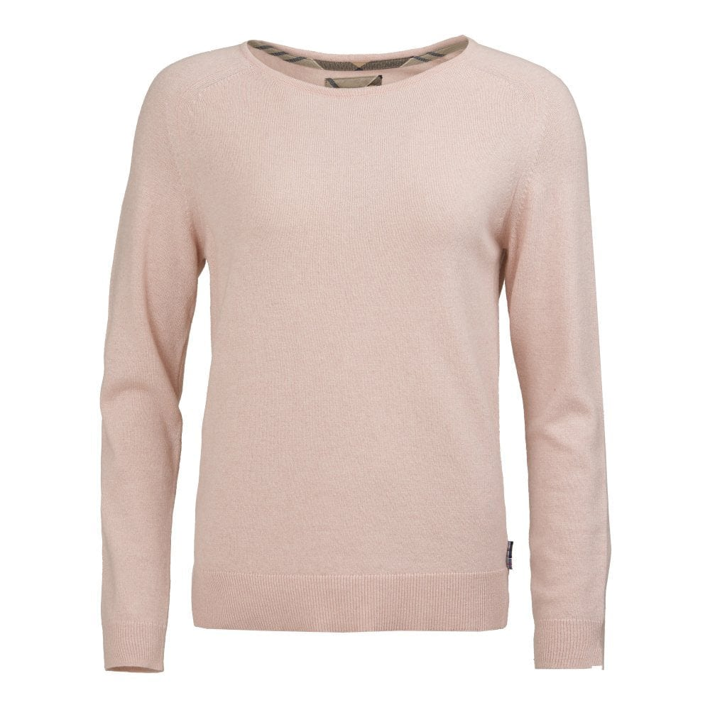 Barbour Womens Pendle Crew Knitwear Blush Pink