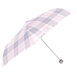 Barbour Womens Portree Umbrella Pink/Grey Tartan