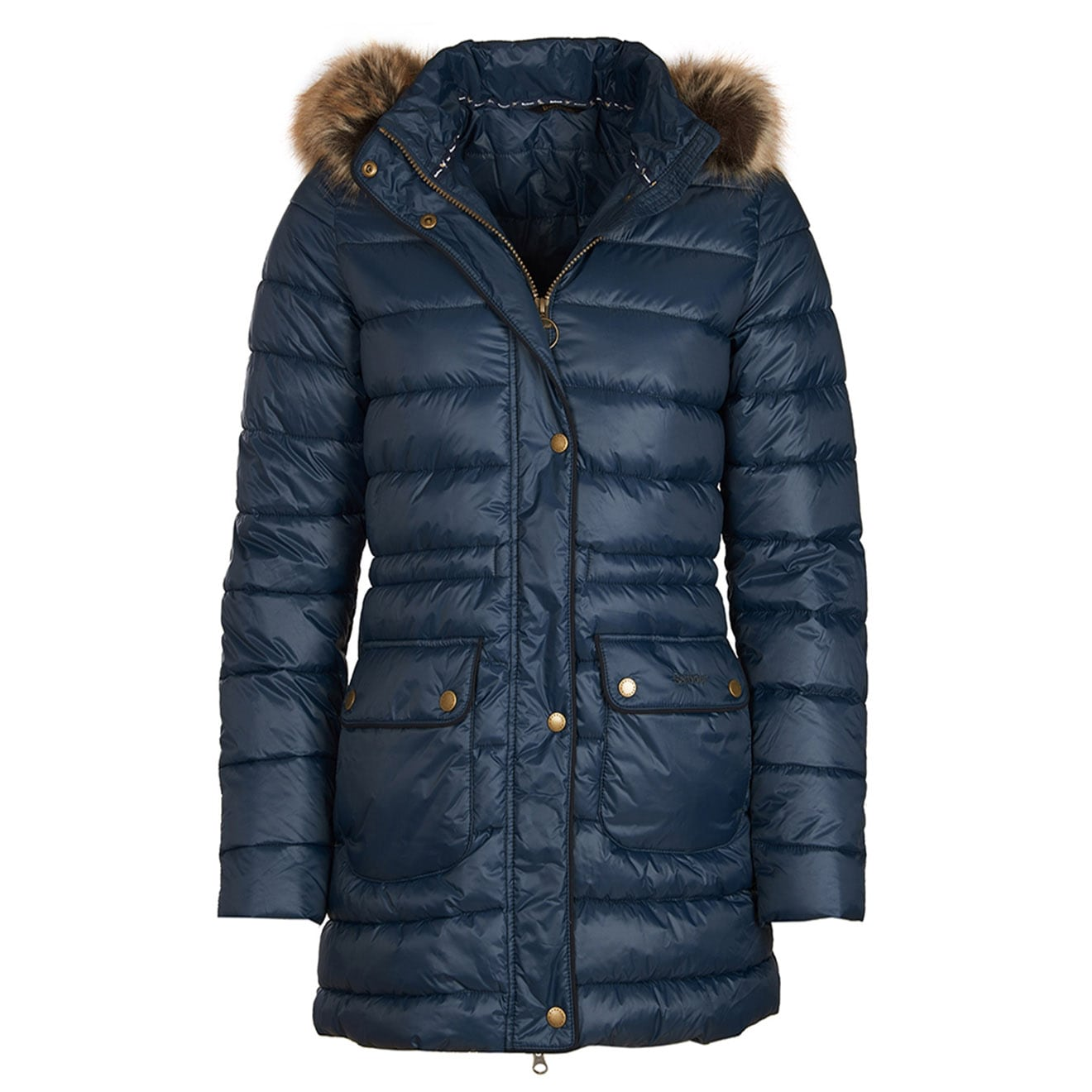 1d55db5caee4dd Barbour Womens Redpoll Quilted Jacket Navy - The Sporting Lodge