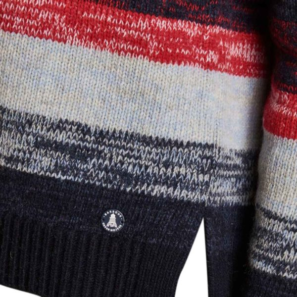 Barbour Womens Rhossili Knitwear Navy