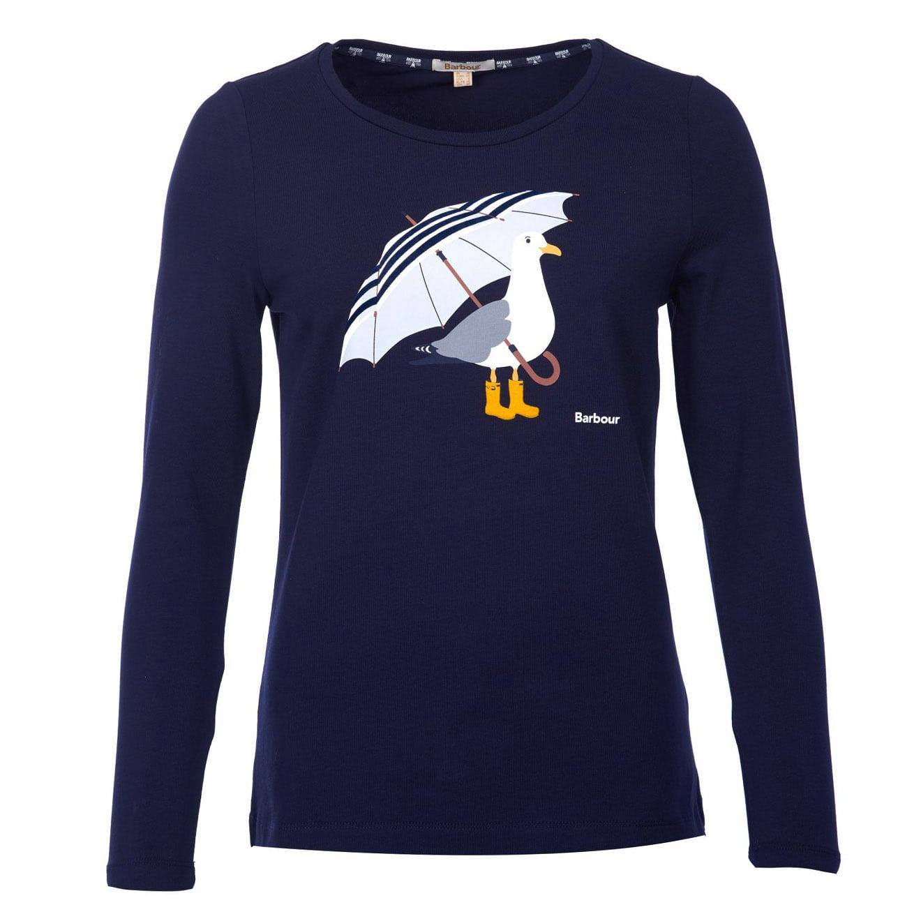 Barbour Womens Sidmouth Long Sleeve T-Shirt Navy