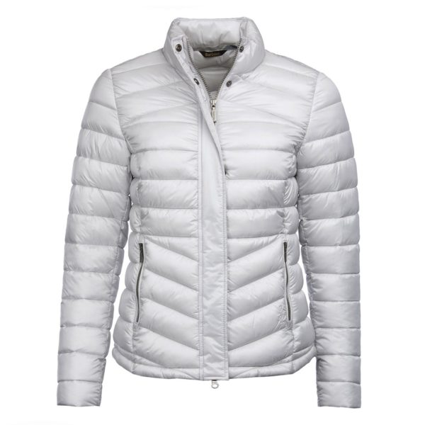 Barbour Womens Vartersay Quilted Jacket Ice White