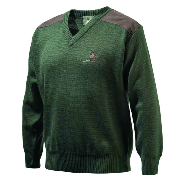 Beretta V-Neck Pheasant Sweater