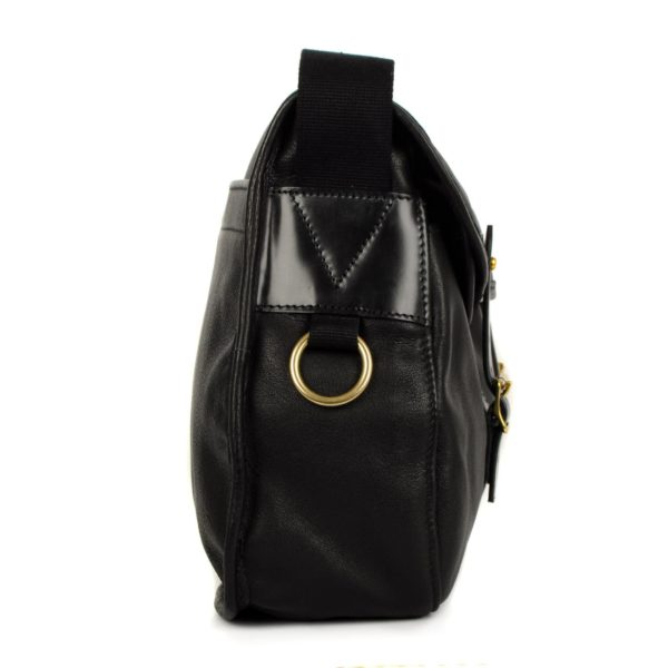 Brady Ariel Trout Bag Black Leather - The Sporting Lodge