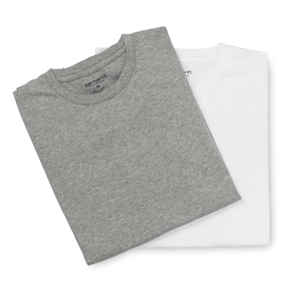 Carhartt Crew Neck T-Shirt 2-Pack White and Grey Heather