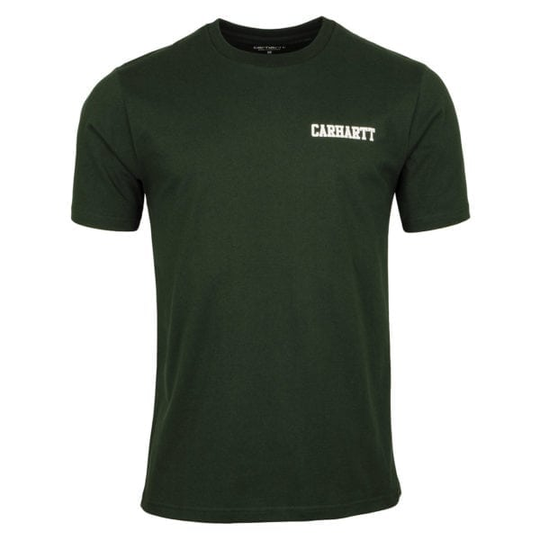 Carhartt College Script T-Shirt Loden / White