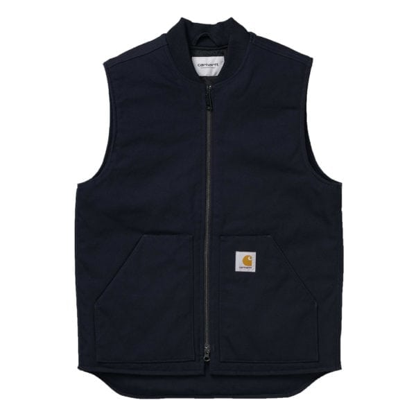 Carharrt Dearborn Canvas Gilet Dark Navy Rigid