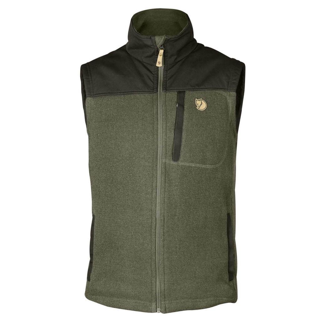 Fjallraven Buck Fleece Vest Laurel Green/Deep Forest