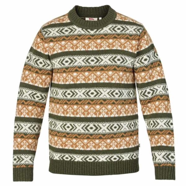 Fjallraven Ovik Folk Knit Sweater Deep Forest