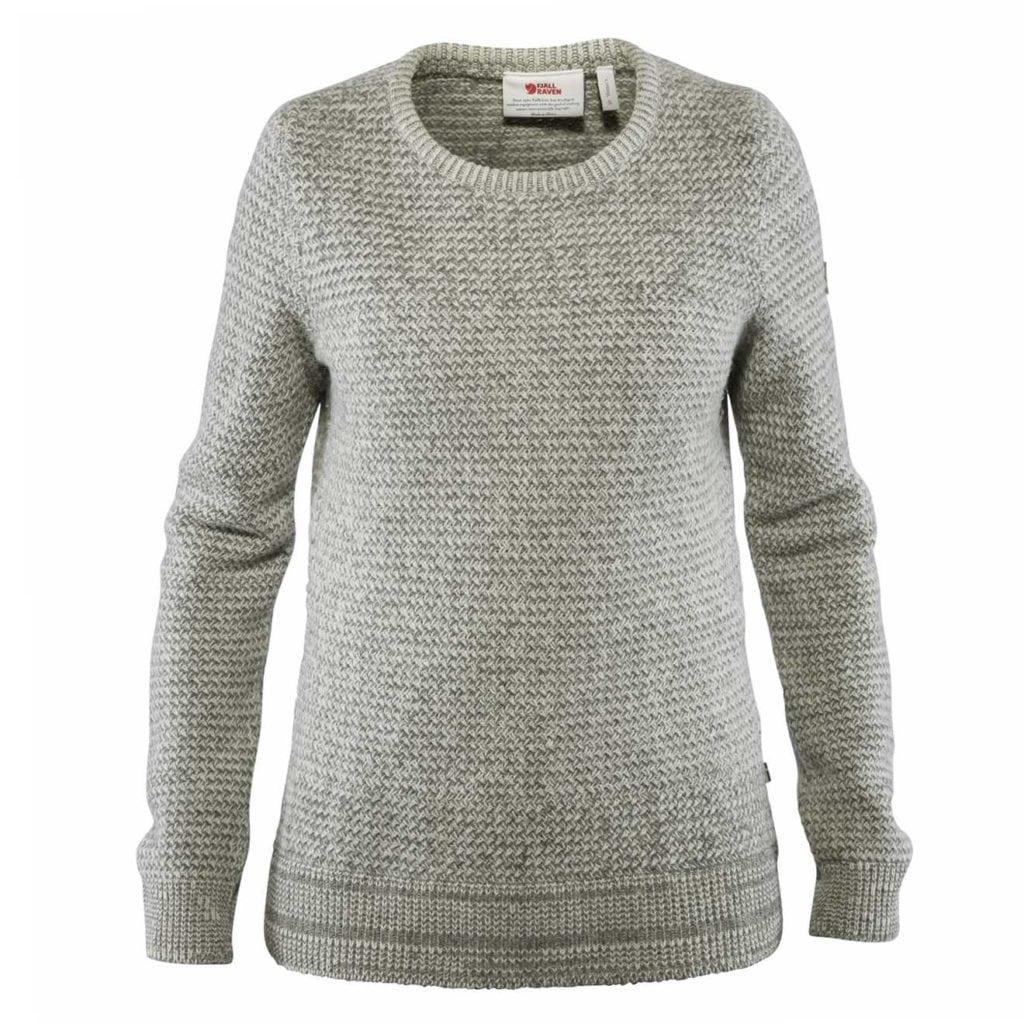 Fjallraven Womens Ovik Structure Sweater Egg Shell/Grey