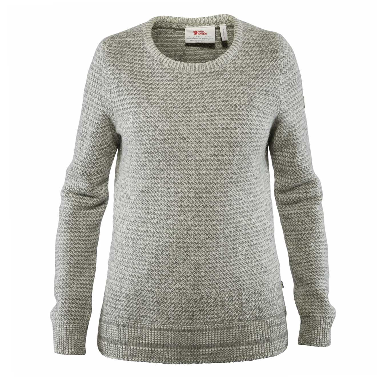 Fjallraven Womens Ovik Structure Sweater Egg Shell/Grey