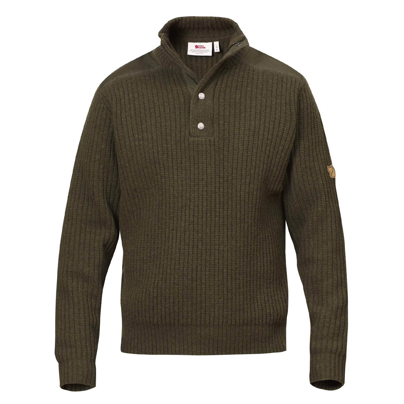 Fjallraven Varmland T-Neck Sweater Dark Olive