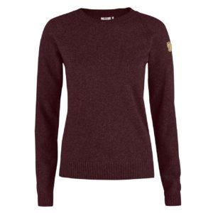 Fjallraven Womens Ovik Re-Wool Sweater Dark Garnet