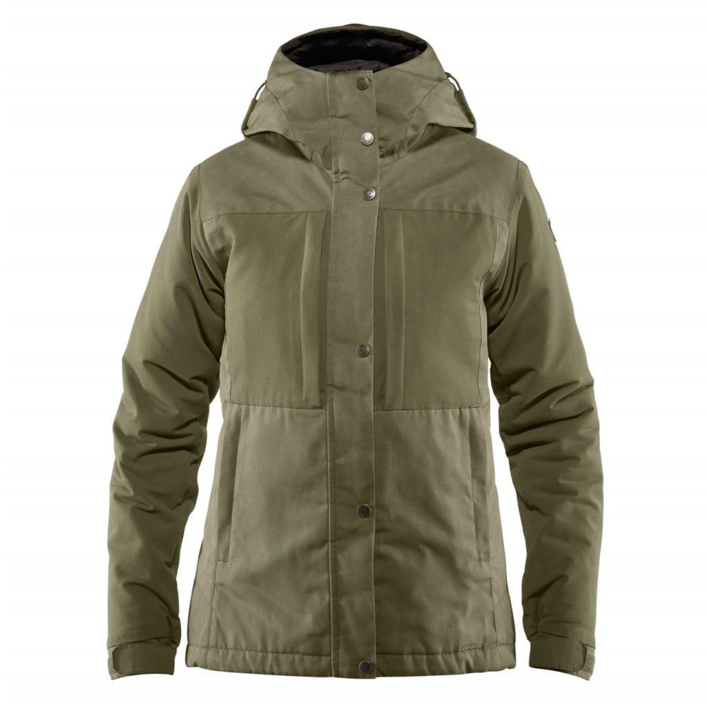 Fjallraven Womens Ovik Stretch Padded Jacket Laurel Green