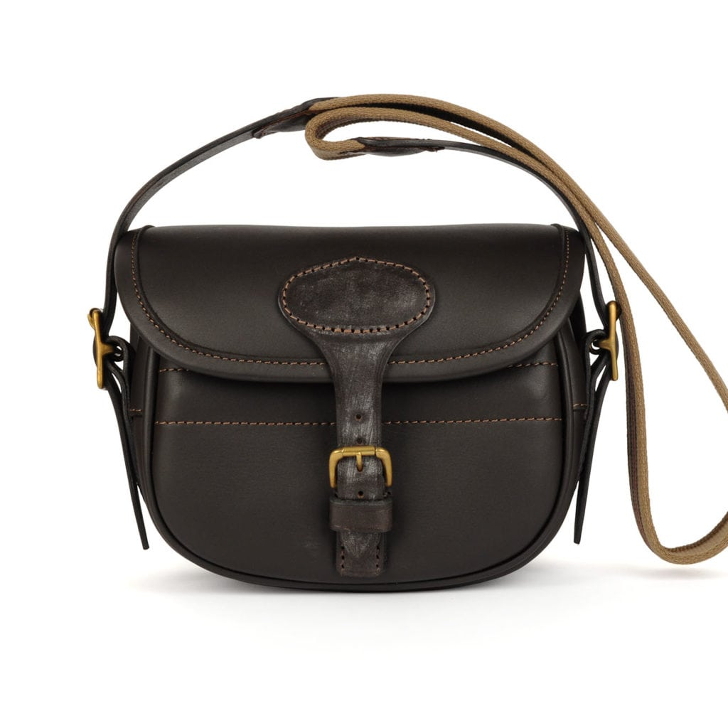 James Purdey Classic Leather Cartridge Bag Brown