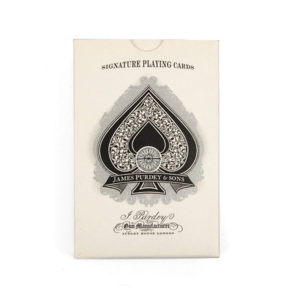 James Purdey Engraving Playing Cards