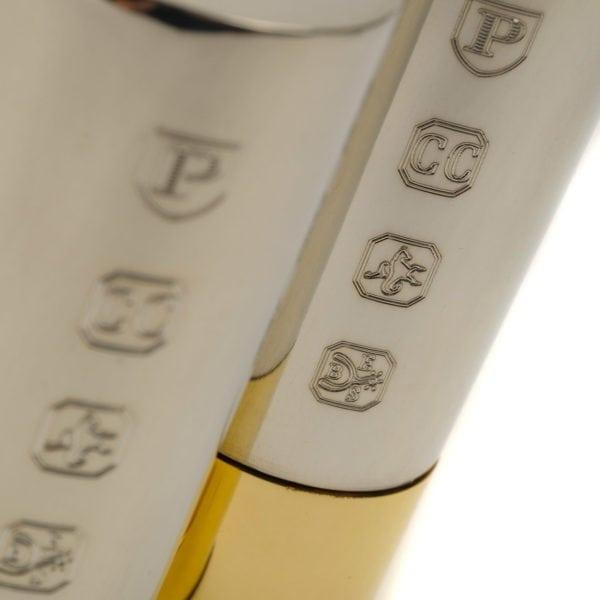 James Purdey Petwer Cruet Set With Engraved Cap