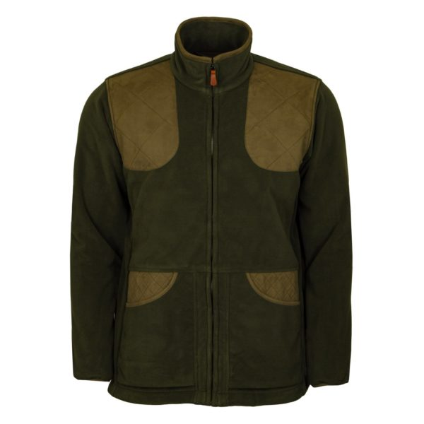 James Purdey Shetland Shooting Fleece Jacket Khaki Green