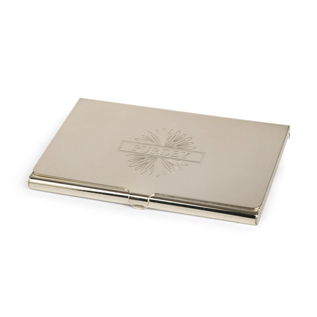 James Purdey Silver Plated Business Card Holder