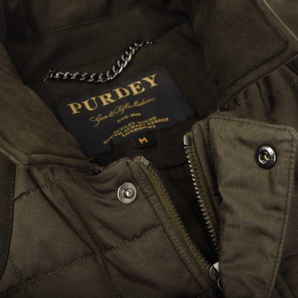 James Purdey Technical Felgate Quilt Jacket Moss Green