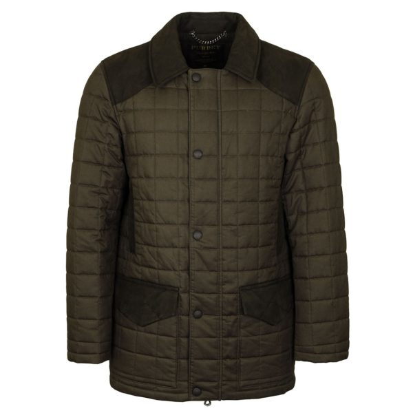 James Purdey Technical Felgate Quilt Jacket Moss Green