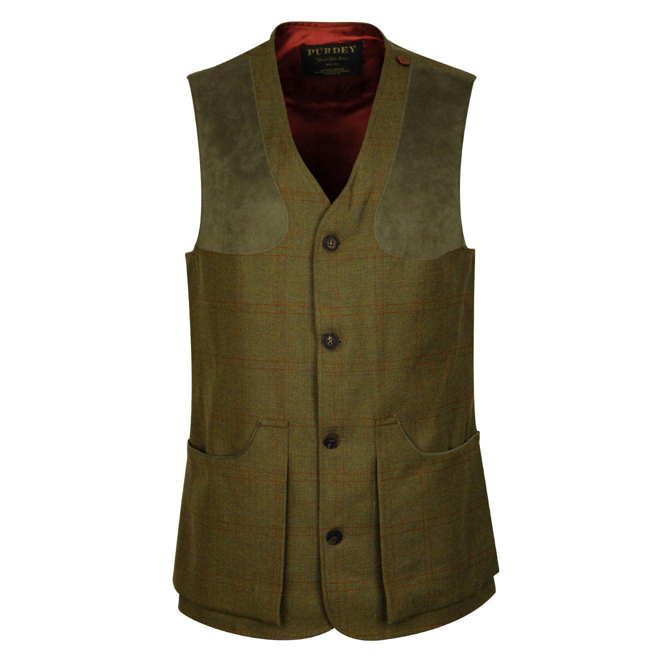 James Purdey Technical Tweed Shooting Vest Bembridge