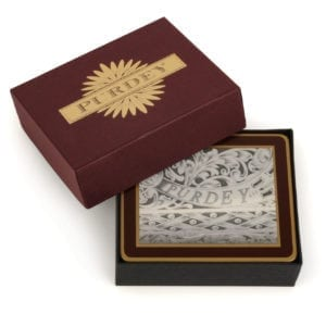 James Purdey Traditional Coasters With Gun Engravings