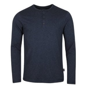 Patagonia Long Sleeve Daily Henley T-Shirt Navy Blue