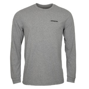 Patagonia Long Sleeve Fitz Roy Trout Responsibili-Tee Grey Heather