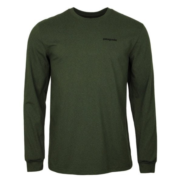 Patagonia Long Sleeve Fitz Roy Trout Responsibili-Tee Nomad Green