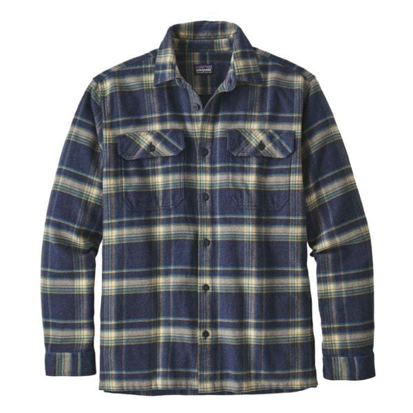 Patagonia Long Sleeve Fjord Flannel Shirt Activist Navy Blue