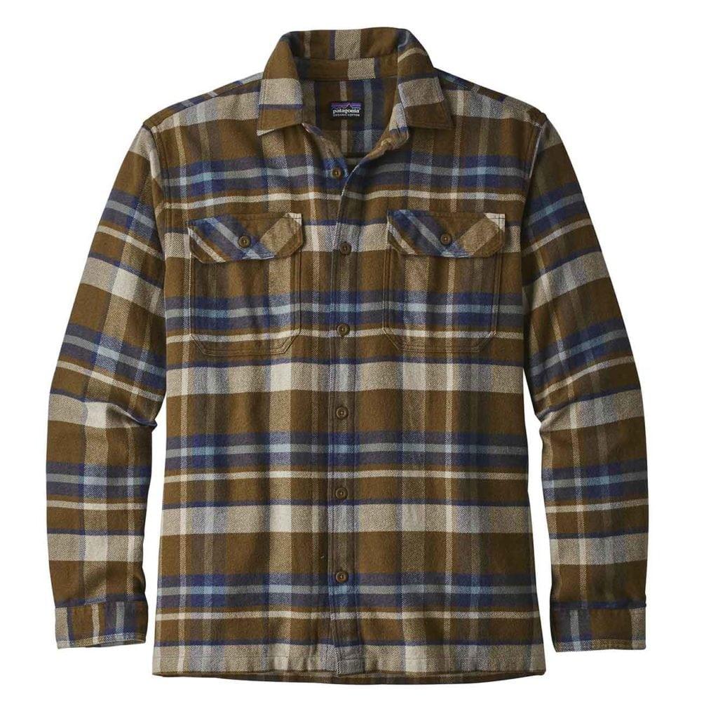 Patagonia Long Sleeve Fjord Flannel Shirt Sediment