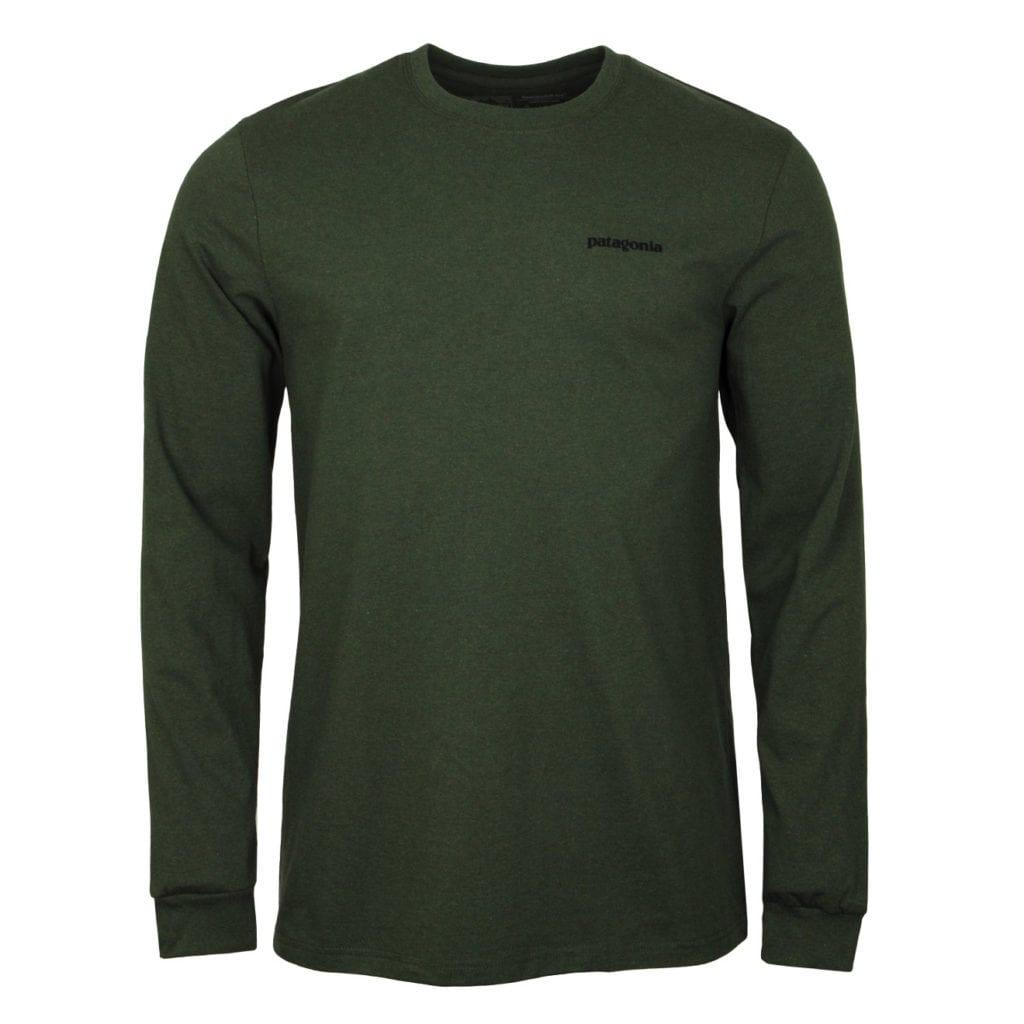 Patagonia Long Sleeve P-6 Logo Responsibili-Tee Nomad Green