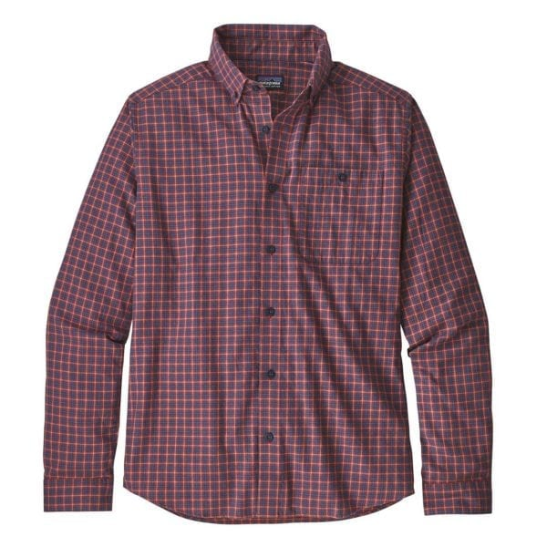 Patagonia Long Sleeve Vjosa River Pima Cotton Shirt Endless New Adobe
