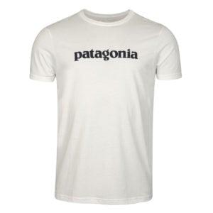 Patagonia Text Logo Organic T-Shirt White