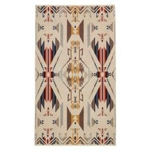 Pendleton Oversized Jacquard Towel White Sands Tan