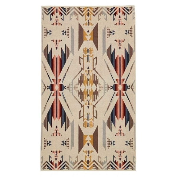 Pendleton Oversized Jacquard Towel White Sands Tan