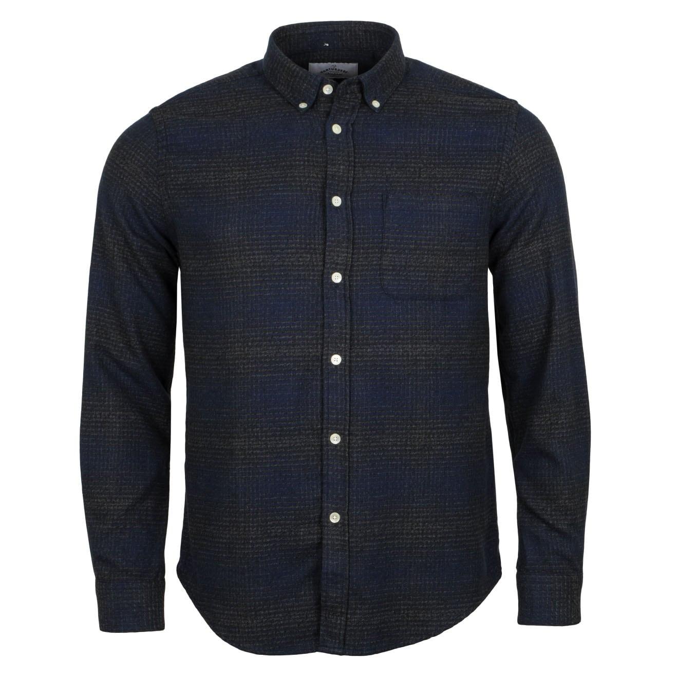 Portuguese Flannel Clerigo Shirt Navy