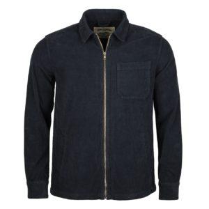 Portuguese Flannel fecho Corduroy Shirt Navy