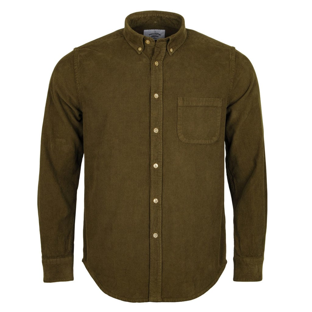 Portuguese Flannel Lobo Shirt Olive