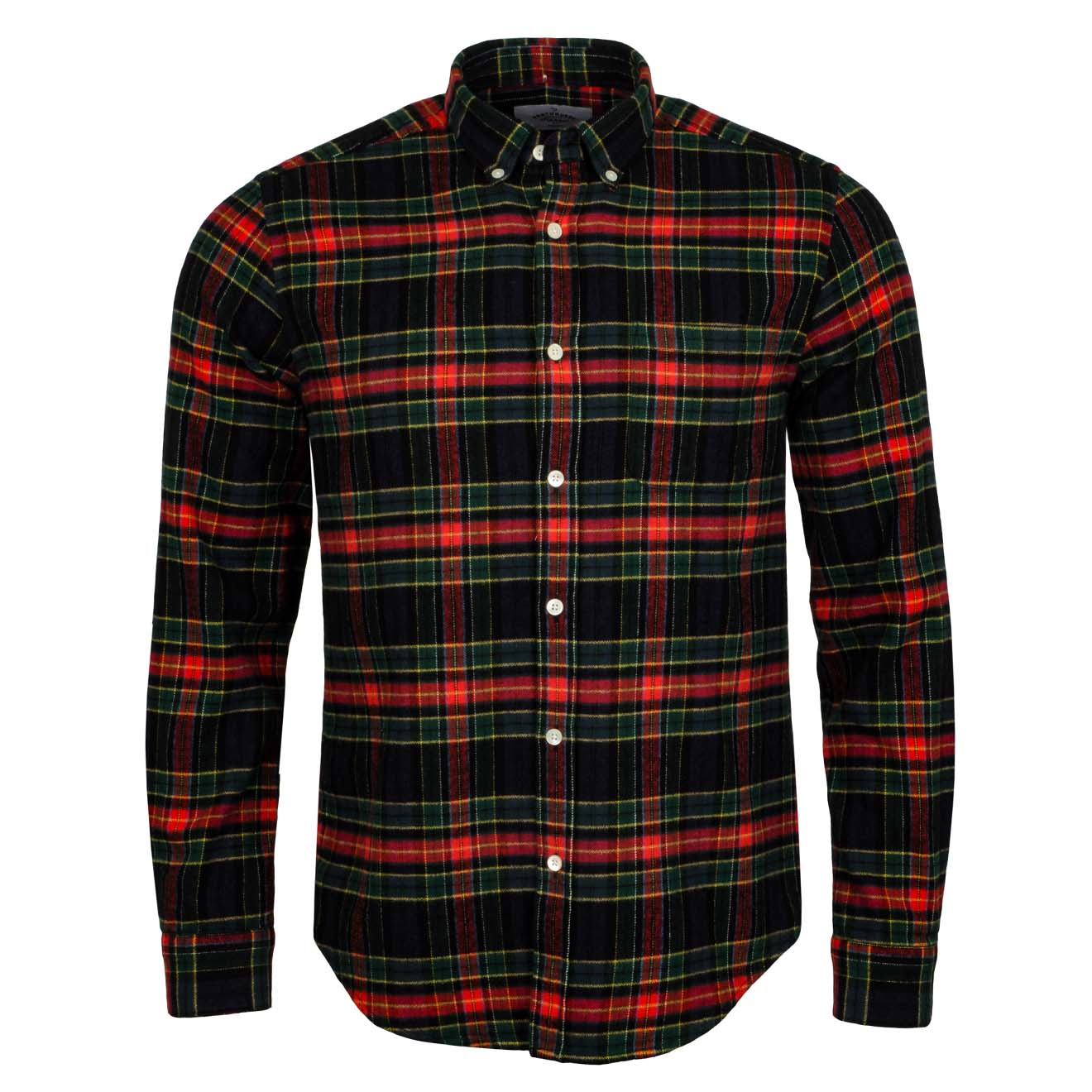 Portuguese Flannel Scotch Shirt Navy / Red
