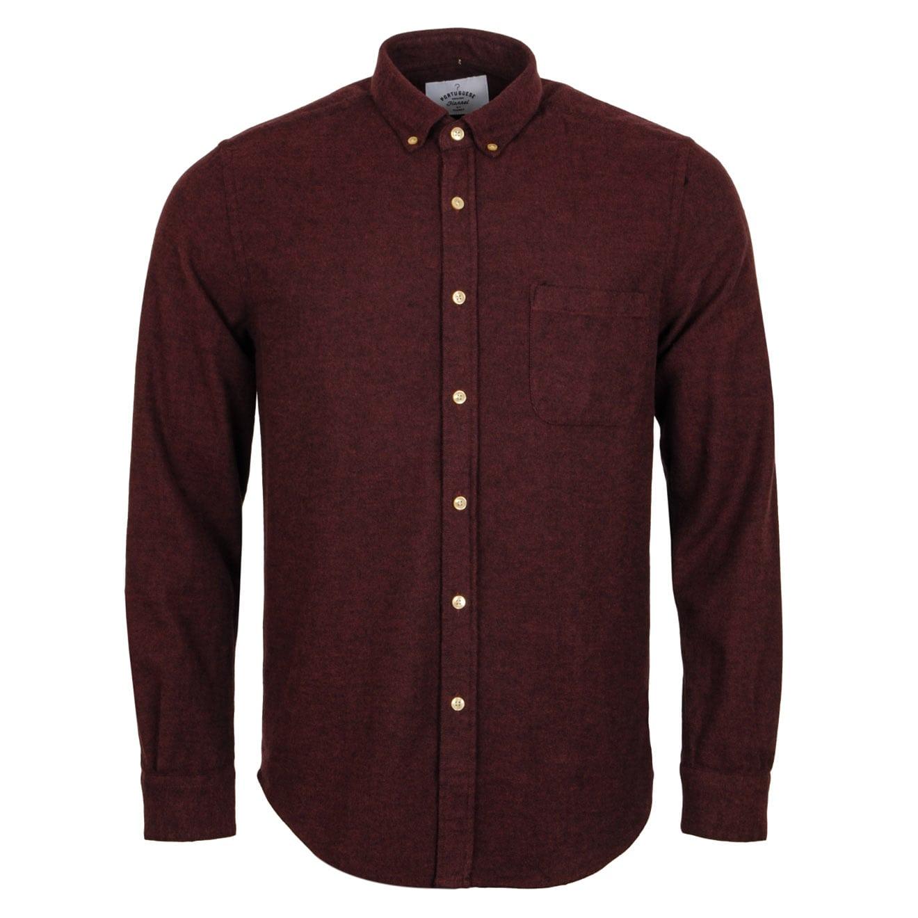 Portuguese Flannel Teca Shirt Bordeaux